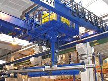 Several energy transmission systems in use on a Process Crane